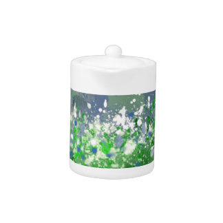 Ocean Spray Abstract Design in Blue and Green