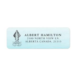 Ocean Squid   Personalized Return Address Return Address Label