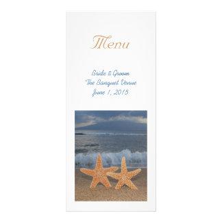 Ocean Starfish Wedding Menu Rack Card