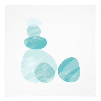 Ocean Stones Illustration | Rocks Art Poster