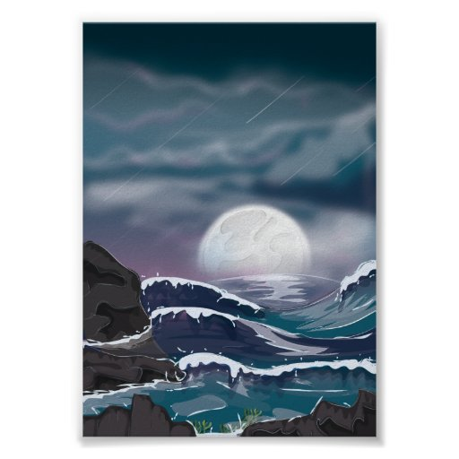 Ocean Storm Poster