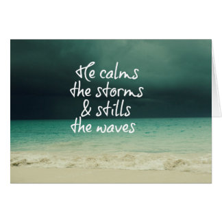 Ocean Storm with God Quote Greeting Card