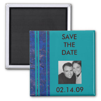 Ocean Stripe Photo Save the Date Magnet