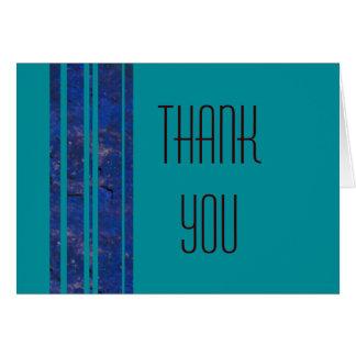 Ocean Stripe Thank You Note Card