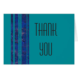 Ocean Stripe Thank You Note Greeting Card