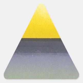 Ocean Sun Seascape Triangle Sticker