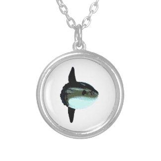 Ocean Sunfish - Mola Mola Silver Plated Necklace
