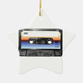 Ocean Sunrise Cassette Ceramic Star Decoration