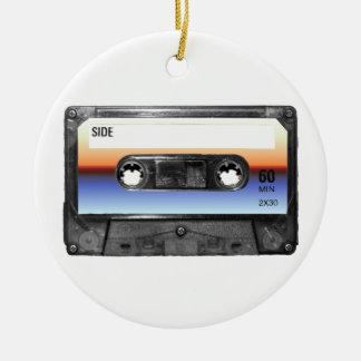Ocean Sunrise Cassette Round Ceramic Decoration