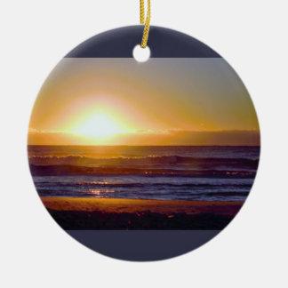 Ocean Sunrise Photo Christmas Ornament