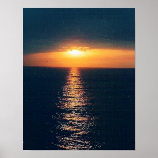 Ocean Sunset-Add Text Poster