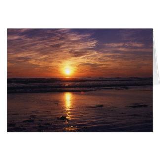 Ocean sunset  Birthday card