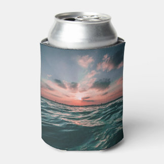 Ocean Sunset custom monogram can cooler
