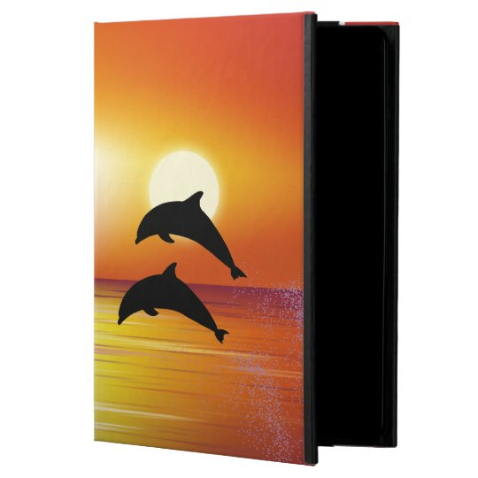 Ocean Sunset Dolphins Couple iPad Air Case
