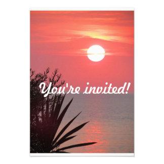 Ocean Sunset invitation