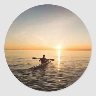Ocean Sunset Kayak Canoe Stickers