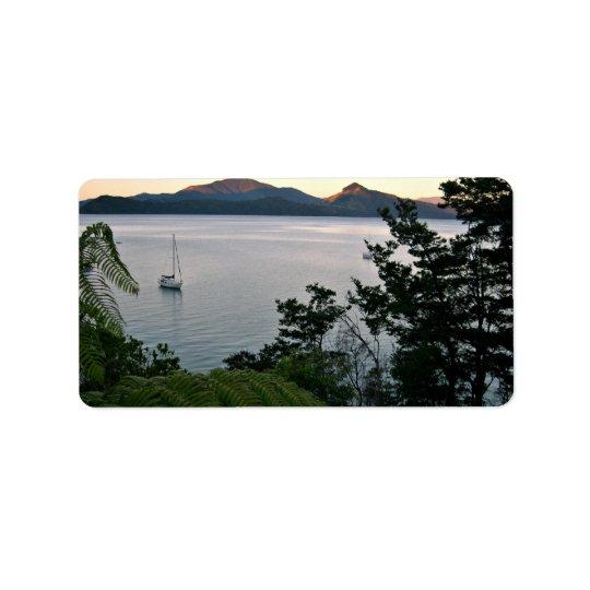 Ocean Sunset Label