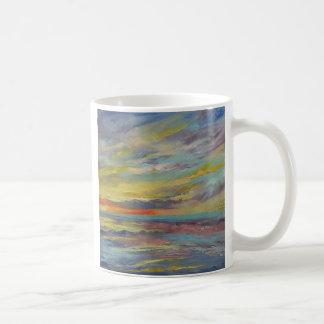 Ocean Sunset Basic White Mug