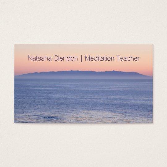 Ocean Sunset Nature Zen Business Card