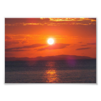 Ocean Sunset Photo Art