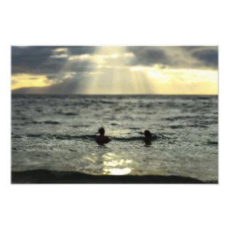 Ocean Sunset Photo Art