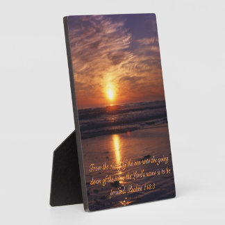 Ocean sunset plaque