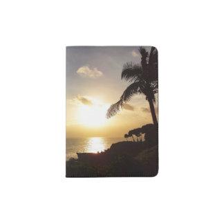 Ocean Sunset Silhouette Passport Holder