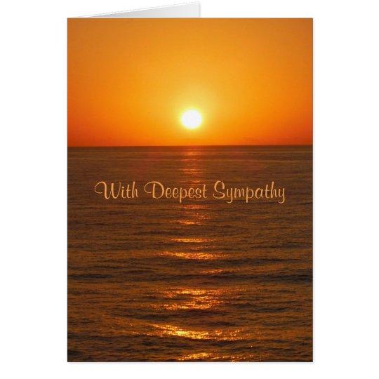 Ocean Sunset Sympathy Card