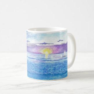 Ocean Sunset Watercolor Scripture Mug