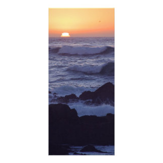 OCEAN SUNSET WAVES TRANQUIL BEAUTY NATURE EARTH SU CUSTOM RACK CARDS