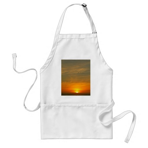 OCEAN SUNSET WITH MIGRATING BIRDS APRONS