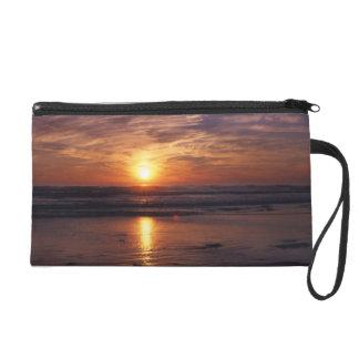 Ocean sunset wristlet clutch