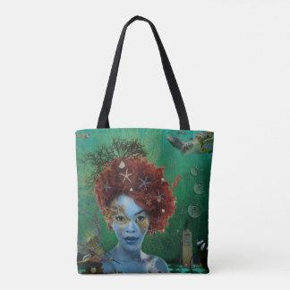 Ocean Surreal Editorial Art Tote Bag