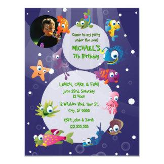 Ocean Theme Children's Birthday Party Invitation