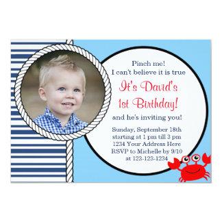 Ocean Themed Birthday Invitation