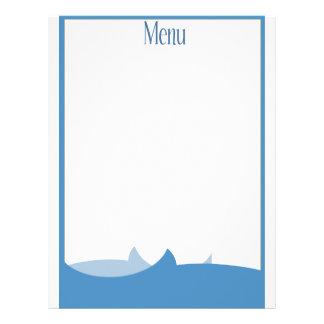 Ocean themed blank menu 21.5 cm x 28 cm flyer