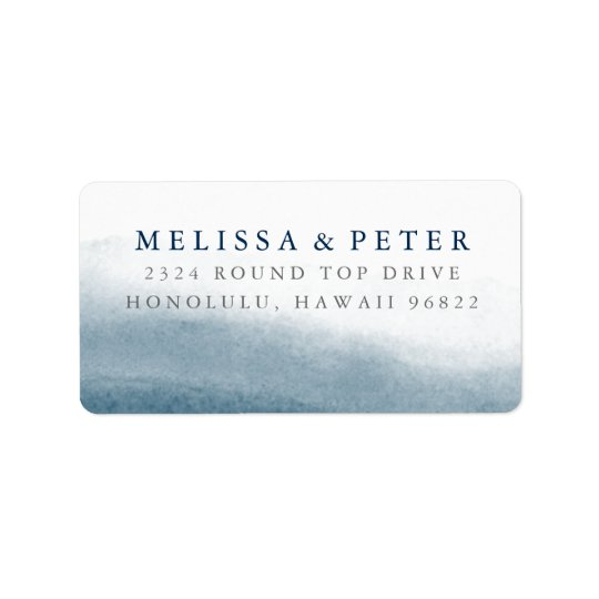 Ocean Tides Oversized Return Address Label