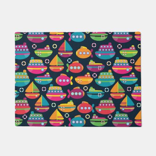 Ocean Transportation Pattern Doormat