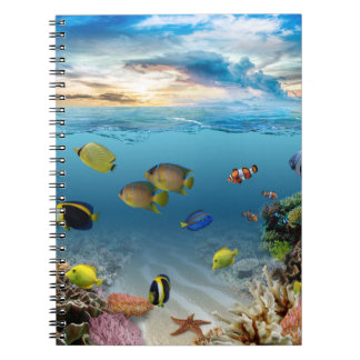 Ocean Underwater Coral Reef Tropical Fish Notebook