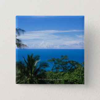 Ocean view 15 cm square badge