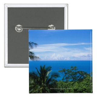 Ocean view 15 cm square badge