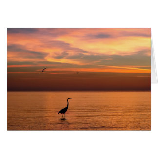 Ocean View at Sunset Greeting Card