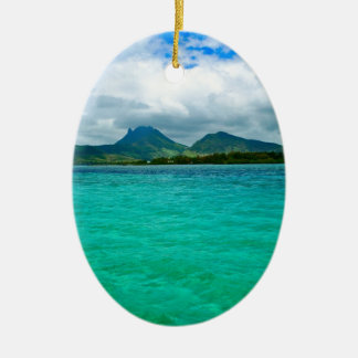 Ocean view in Mauritius Christmas Ornament