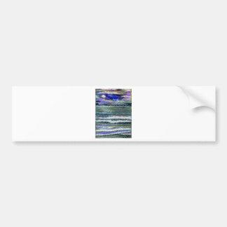 Ocean View Sea Waves Seashore Art Bumper Sticker