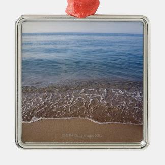 Ocean View Silver-Colored Square Decoration
