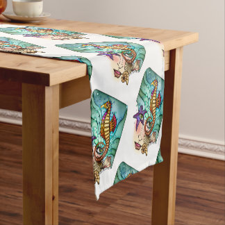 OCEAN VISIONS SEA ART SHORT TABLE RUNNER