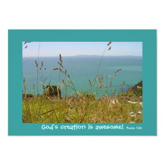 Ocean Vista - Psalm 104 13 Cm X 18 Cm Invitation Card