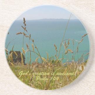 Ocean Vista - Psalm 104 Drink Coasters