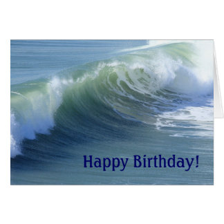Ocean Wave Birthday Card for Sea Lovers