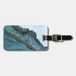 Ocean Wave Building Art Luggage Tag